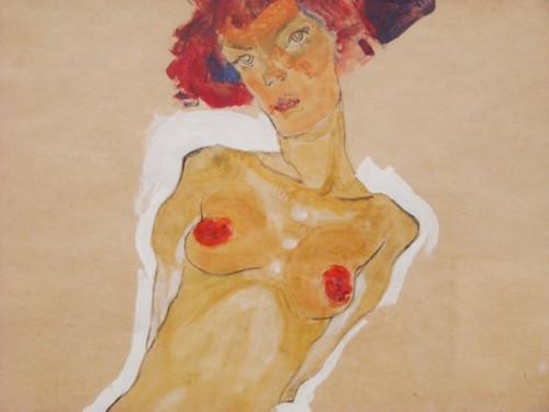 Egon Schiele, Squatting female nude, 1910, Leopold Museum, Vienna
