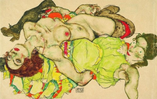 Egon Schiele, Two girls lying entwined, 1915, Albertina Vienna, Photo: Peter Ertl