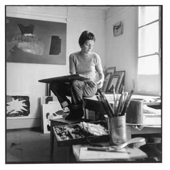Meret Oppenheim in her studio in Bern