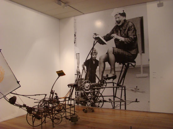 Tinguely woman on bike