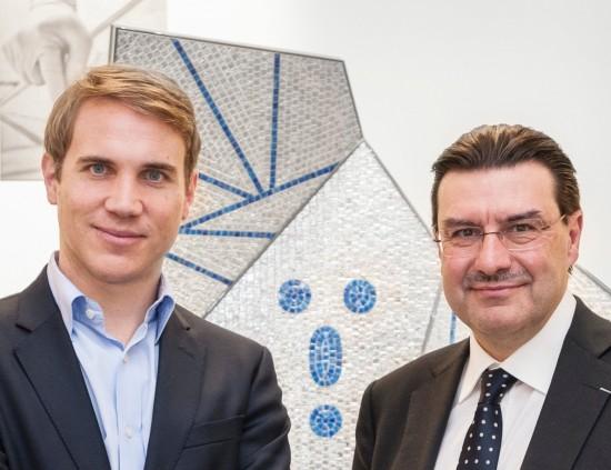 Alexis Georgacopoulos, Directeur ECAL. Juan-Carlos Torres, CEO Vacheron Constantin. Photo ECAL-Nicolas Genta_Snapseed