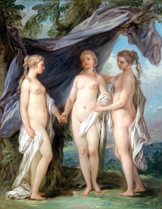 Charles-André Vanloo, Esquisse pour Les Grâces enchaînées par l'Amour