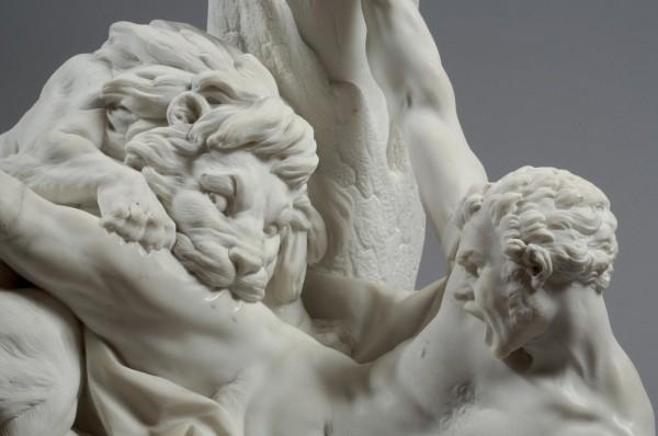 Etienne Maurice Falconet, Milon de Crotone (détail), 1754, marbre, 68,8,5 x 64,9 x 51,2 cm, Musée du Louvre, Paris © RMN-Grand Palais (musée du Louvre) / Pierre Philibert