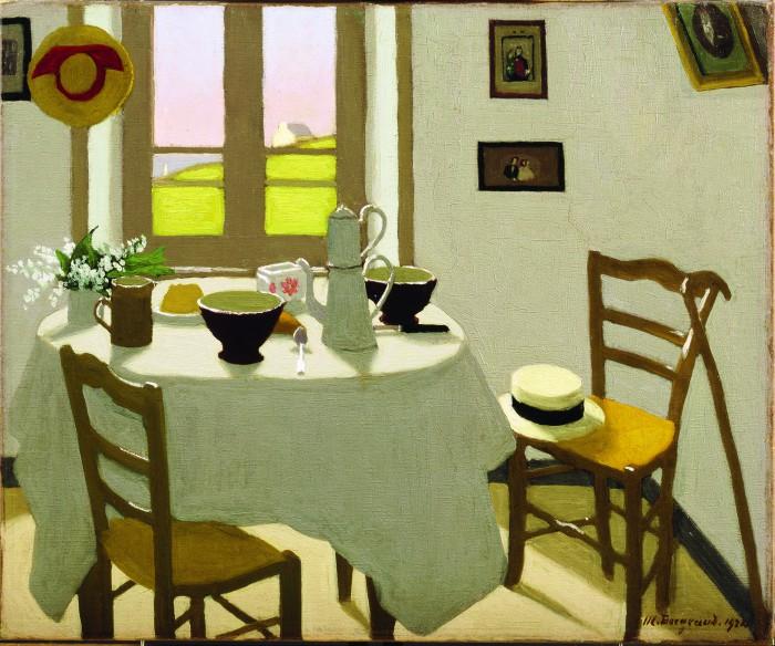 Marius Borgeaud, La chambre blanche, 1924, Collection privée © photo Jacques D. Rouiller