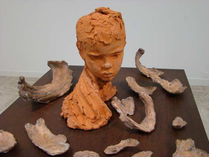 Corteccia (Bark), 1983, the bust of Ruggero Penone, age 10, is shown for the first time © Michèle Laird