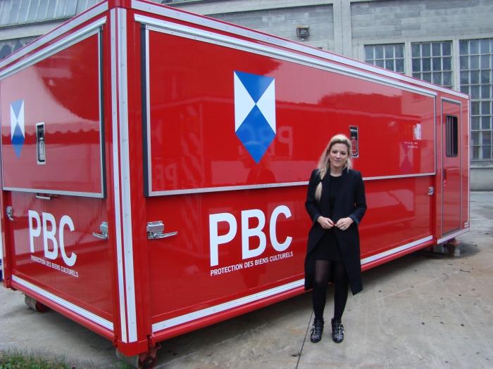 Nelly Cauliez, Conservatrice Bibliothèque de Genève. qui a coordonné la création de la berce