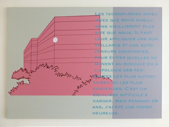 Andreas Hochuli Les technologies affectives, 2015 Avec le soutien de Pro Helvetia, Fondation suisse pour la culture, Courtesy Galerie Heinzer Reszler