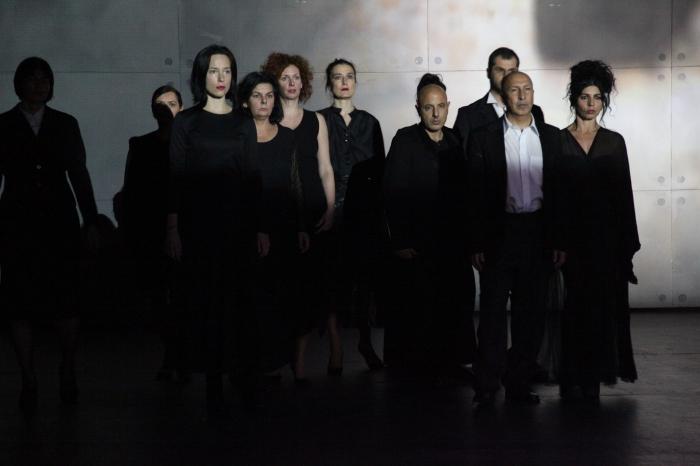 Scènes de Vangelo qui rappellent le célèbre théâtre du Polonais Grotowski. Photo Mara Bratos