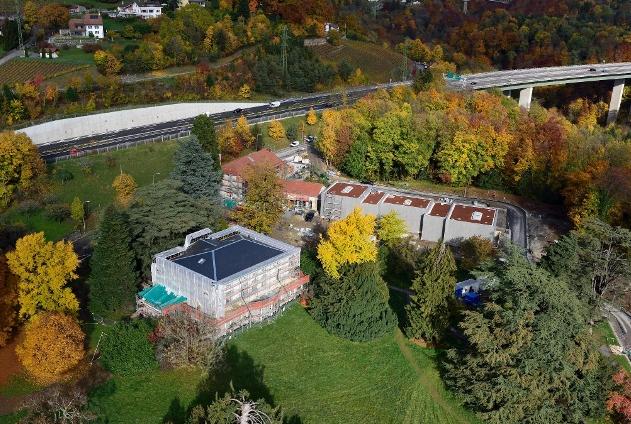 Chaplin's World construction site in Corsier-sur-Vevey, Keystone, courtesy www.swissinfo.ch