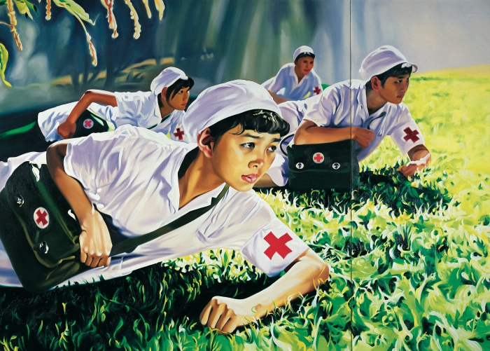 Jing Kewen, Dream 2008, No. 1 (Nurses), 250 x 350 cm © the artist. M+ Sigg Collection, Hong Kong. By donation