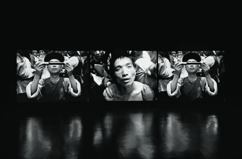 Chen Chieh-Jen, Lingchi – Echoes of a Historical Photograph, 2002, 3-channel video installation. M+ Sigg Collection, Hong Kong. By donation © Chen Chieh-Jen