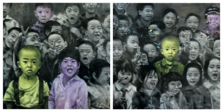 Li Tianbing Ensemble # 1 + 2, 2008 2 panels © the artist. M+ Sigg Collection, Hong Kong. By donation.