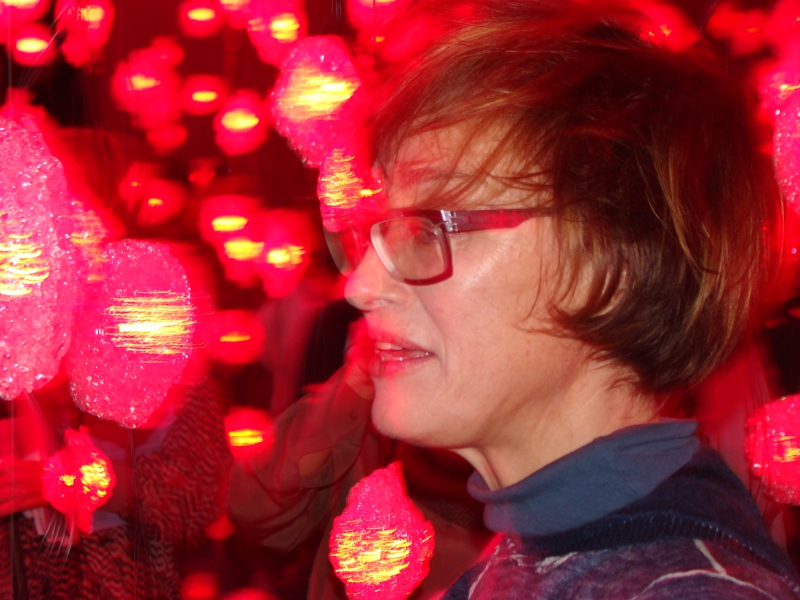 Pipilotti Rist at the opening, photo Michele Laird