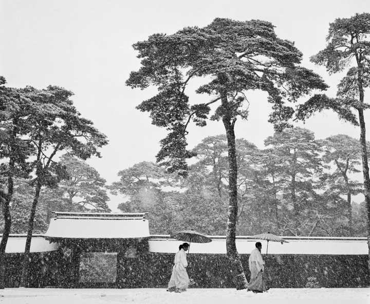 Bischof, JAPAN. Tokyo. Courtyard of the Meiji shrine. 1951.