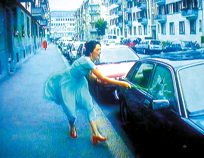 Pipilotti Rist's cult Ever Is Over All, 1997, Audio video installation (video still) © Pipilotti Rist, Courtesy the artist, Hauser & Wirth and Luhring Augustine
