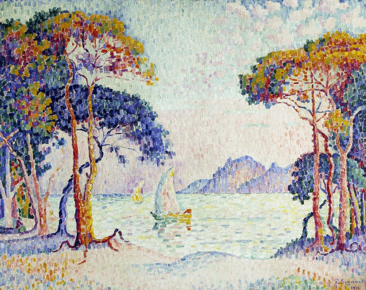 Paul Signac, Juan-les-Pins. Soir, 1914, Collection privée © photo Maurice Aeschimann