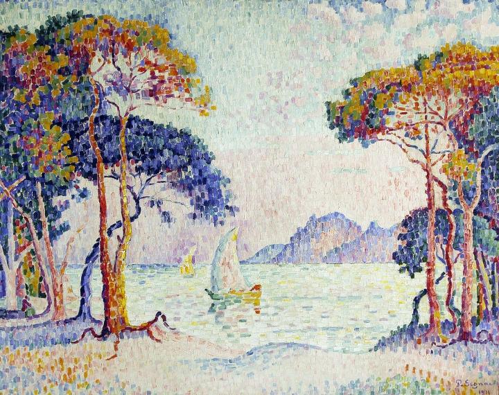 Paul Signac, Juan-les-Pins. Soir, 1914, Collection privée © photo Maurice Aeschimann