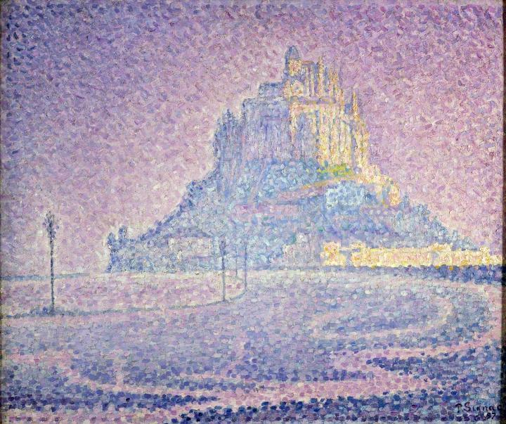 Paul Signac Mont Saint-Michel. Brume et soleil, 1897 collection privée © photo Maurice Aeschimann