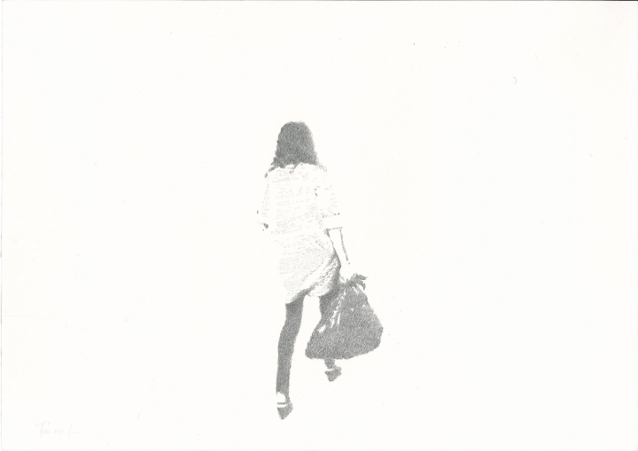 Mingjun Luo, Lonely, 2011, lead pencil on paper