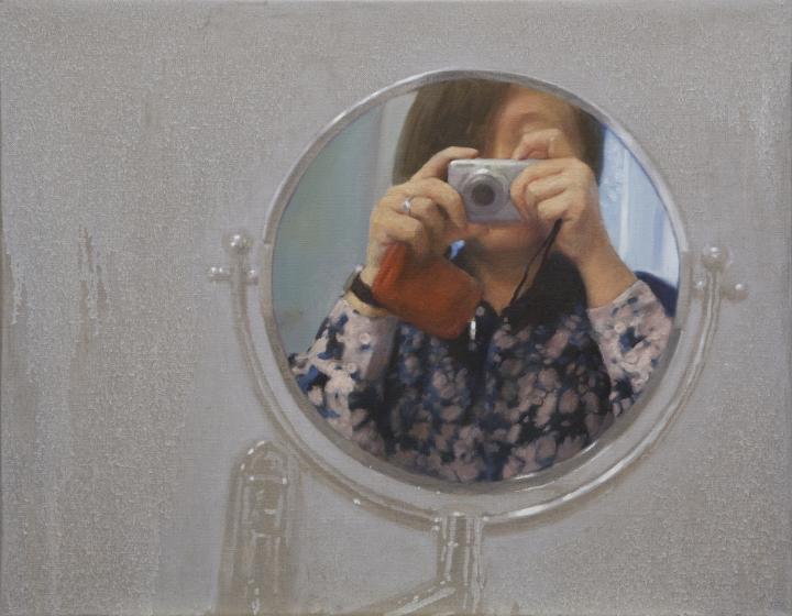 Mingjun Luo, Introspection, 2014, oil on canvas