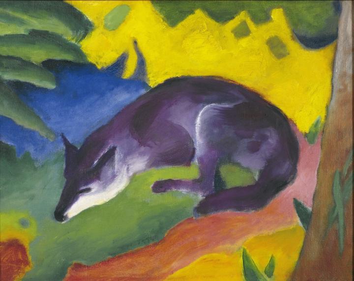 Franz Marc Blue-black Fox, 1911 Von der Heydt-Museum Wuppertal