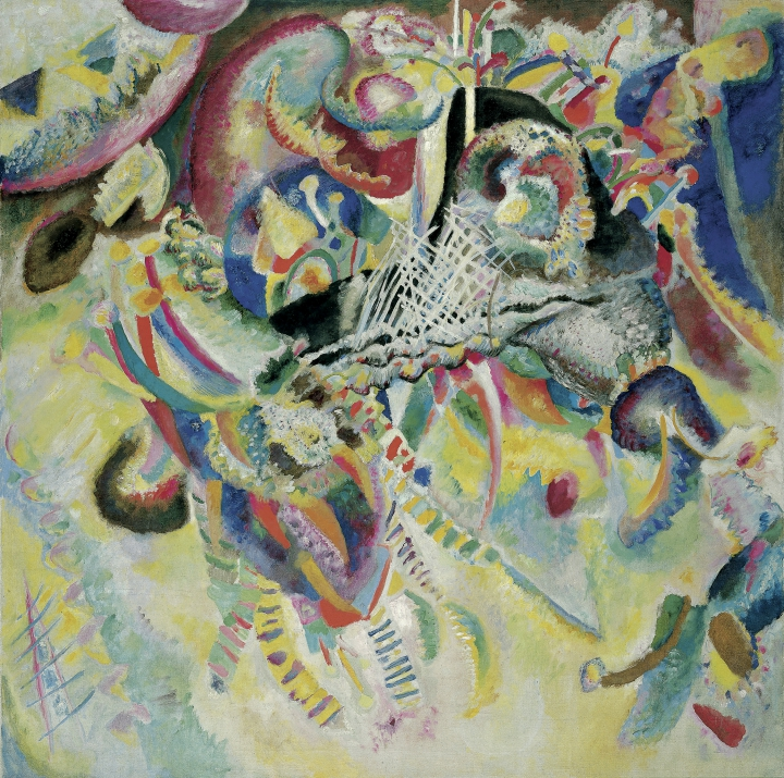 Wassily Kandinsky  Fuga, 1914  Oil on canvas, 129.5 x 129.5 cm  Fondation Beyeler, Riehen/Basel, Beyeler Collection