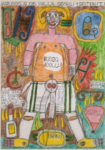 August Walla Russo, Adolli.!, 1984 Collection de l'Art Brut, Lausanne