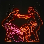 Bruce Nauman, Sex and Death by Murder and Suicide, 1985, Neon tubing mounted on aluminum, Emanuel Hoffmann Foundation, on permanent loan to the Öffentliche Kunstsammlung Basel, photo: Bisig & Bayer, Basel © Bruce Nauman / 2018, ProLitteris, Zurich