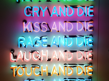 Bruce Nauman, One Hundred Live and Die, 1984, detail