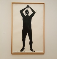 Nauman, Beating with a baseball bat, 1986, water-based paint and pencil on paper, Udo & Anette Brandhorst Samslung
